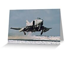 Phantom FGR.2 XV466/E taking-off at Stanley Greeting Card