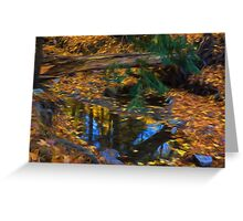 Impressions of a Little Forest Creek in the Fall Greeting Card