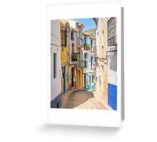 Finistrat narrow street Greeting Card
