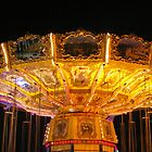 Carousel at night by Bernie Stronner