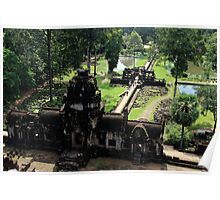 Baphuon from Above - Angkor, Cambodia. Poster
