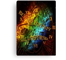 Beyond infinity-time machine Canvas Print