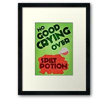 No Good Crying Over Spilt Potion Framed Print