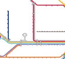 shitty-rail map Sticker