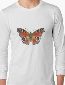 Peacock Butterfly (Inachis io) Long Sleeve T-Shirt