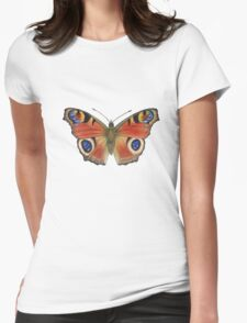 Peacock Butterfly (Inachis io) Womens Fitted T-Shirt