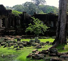 The Ruins of Baphuon - Angkor, Cambodia. by Tiffany Lenoir