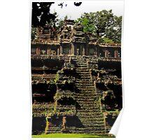 Phimeanakas Temple - Angkor, Cambodia. Poster