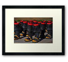 Fireman Boots Framed Print