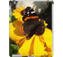 Red Admiral Butterfly on Black Eyed Susan iPad Case/Skin
