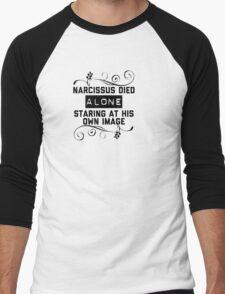 Narcissus Died Alone  Men's Baseball ¾ T-Shirt