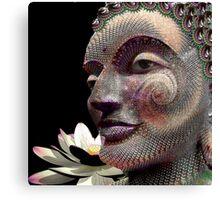 Fractal carving Buddha Canvas Print