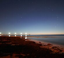 Port Noarlunga under a starry sky by BBCsImagery