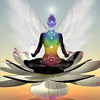 Lotus chakra angel by Bill Brouard