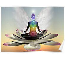 Lotus chakra angel Poster