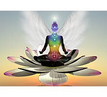 Lotus chakra angel Photographic Print