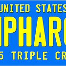 AMPHAROH License Plate by EyeMagined