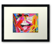 Laughter is good for the soul Framed Print