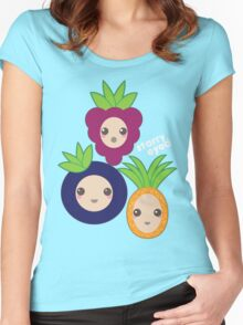 Fruit Crew Women's Fitted Scoop T-Shirt