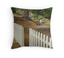 Walhalla Cemetery Entrance Throw Pillow