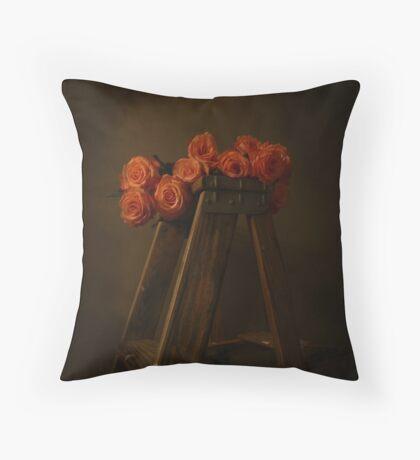 renaissance roses  Throw Pillow