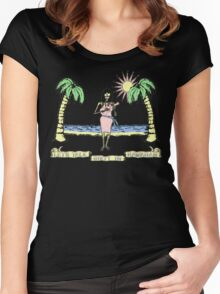 """""""Let's Talk Dirty In Hawaiian"""" (faded) Women's Fitted Scoop T-Shirt"""
