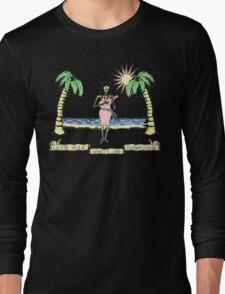 """Let's Talk Dirty In Hawaiian"" (faded) Long Sleeve T-Shirt"