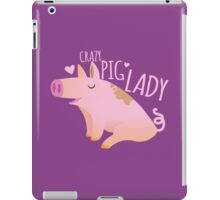 Crazy PIG lady iPad Case/Skin