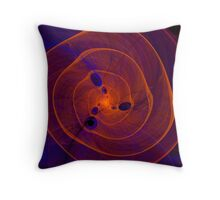 Orange purple abstract marine spiral fractal background Throw Pillow