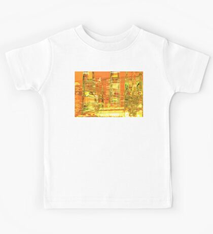 A waved skyscraper Kids Tee