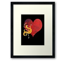 Kazart Phoebe 'Paint it Red' Framed Print