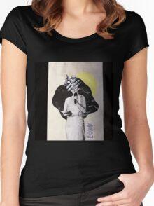 Métal Chromé. Women's Fitted Scoop T-Shirt