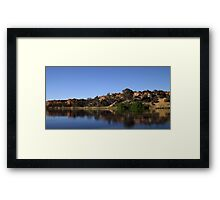 The Cliffs of the Murray River Framed Print