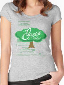 Green Shirt Women's Fitted Scoop T-Shirt