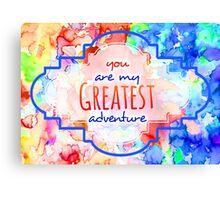 Adventure Horizontal Canvas Print