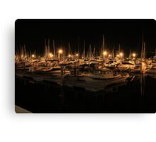 Kelowna Yacht Club by night Canvas Print
