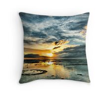 Sunset over the Reef - Northwest Island Throw Pillow