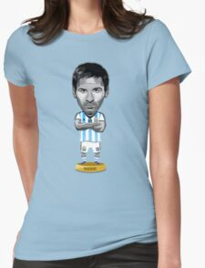 Messi figure Womens Fitted T-Shirt