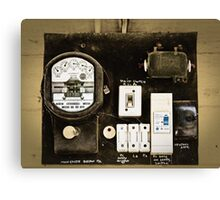 Old Meter Canvas Print