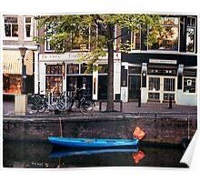 Blu Boat - Amsterdam Poster