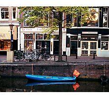 Blu Boat - Amsterdam Photographic Print