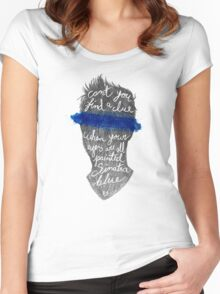 Sinatra blue Women's Fitted Scoop T-Shirt
