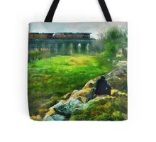 Railroad Wings Tote Bag