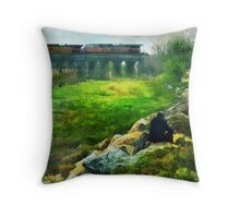 Railroad Wings Throw Pillow