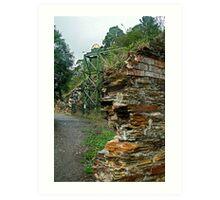 Poppet Head,Long Tunnel Extended Gold Mine, Walhalla Art Print