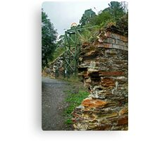Poppet Head,Long Tunnel Extended Gold Mine, Walhalla Canvas Print