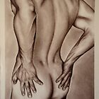 Male Nude - Life Drawing by Katherine Appleby