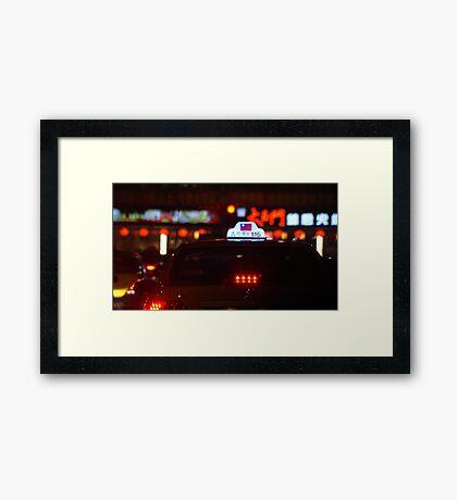 Taxi!! Framed Print