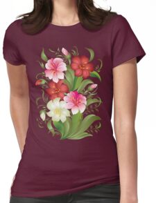 Floral watercolor bouquet Womens Fitted T-Shirt