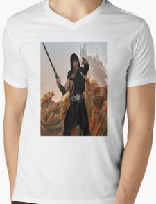 Warrior with a Mission Mens V-Neck T-Shirt